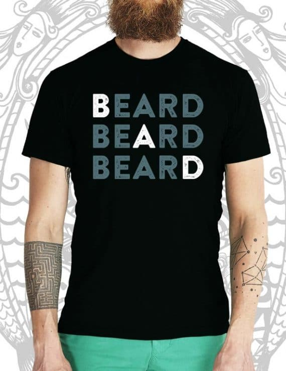 Bad Beard Black Tee